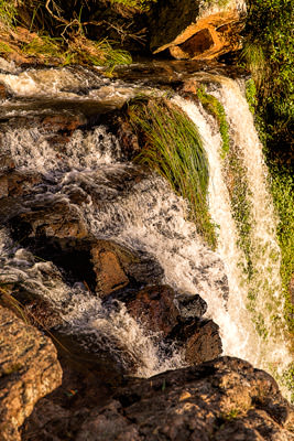 Thumbnail image ofCrest of Queen Mary Falls, frozen in the afternoon...