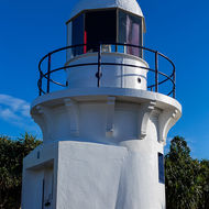 Fingal Head lighthouse.