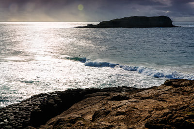 Thumbnail image ofSurfers out just after sunrise between Fingal...