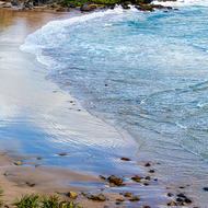 Waves lapping on the beach at Cabarita.