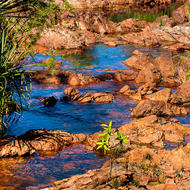 Small pools of Wangi creek before Wangi falls.