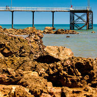 Nightcliff pier at low tide.