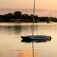 Noosa River calm just after dawn.