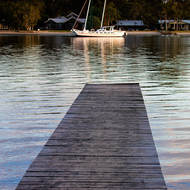 Noosa River jetty.