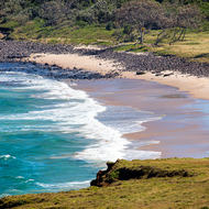 Beach south from Lennox Head.
