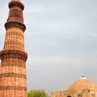 Qutab Minar and Quwwat-ul-Islam mosque.