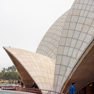 Architecture of the Baha'i Lotus temple.