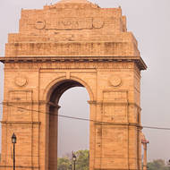 India Gate memorial, Sunday afternoon.