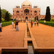 The structure housing the tomb of the Mughal emperor Humayun.