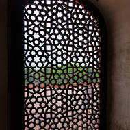 Window in Humayun's Tomb.