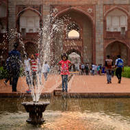Fountain at Humayun's Tomb.