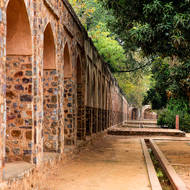 Wall surrounding Humayun's Tomb.