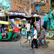 Back streets of Delhi.