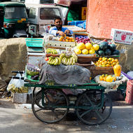 Fruit cart.