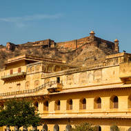 Jaigarh Fort atop the hill from Amber Fort.