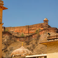 Jaigarh Fort above Amber Fort.