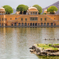 Jal Mahal summer residence in an artificial lake.