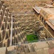 Visual feast: Chand Baori step well at Abhaneri.