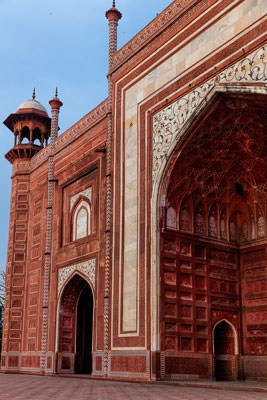 Thumbnail image ofLooking up at the mosque at the western end of...