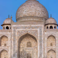East facing side of the Taj Mahal.