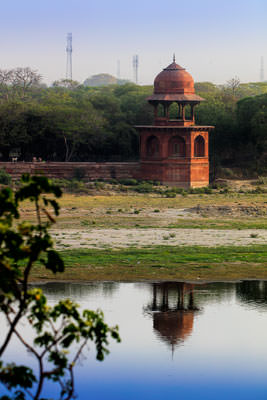 Thumbnail image ofWall tower across the Yamuna River.
