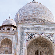 South facing side of the Taj Mahal.