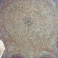 Inside dome of the Taj Mahal mausoleum.
