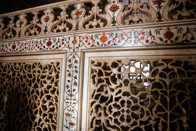 Thumbnail image ofInner partitions of carved marble.