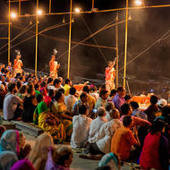 So begins the ritual of Aarti, evening prayers, on the bank of River Ganges.