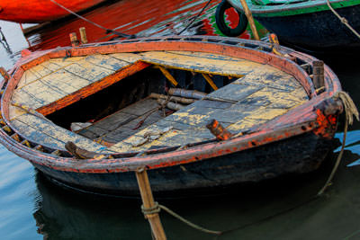 Thumbnail image ofBoats on the River Ganges.
