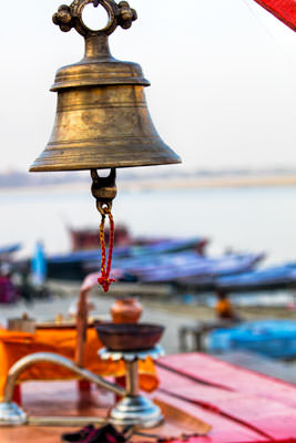 Thumbnail image ofBell, silent now, but for Aarti, evening prayers.