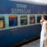 Sleeper class carriage.