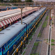 Looking over Varanasi Junction.