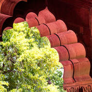 Red Fort red arches.