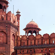 Guard tower over the Red Fort inner Lahori gate.