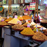 Chandi Chowk spice bazar shop.