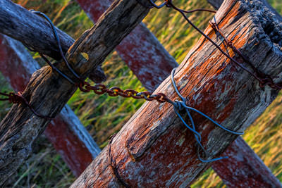 Thumbnail image ofGate, chained and wired.