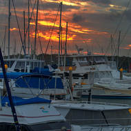 Marina sunset in the Snapper Creek inlet.