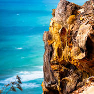 Sandstone cliffs above Rainbow Beach.