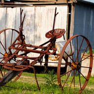 Old farm equipment.