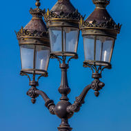 Royal Palace grounds street lamps.