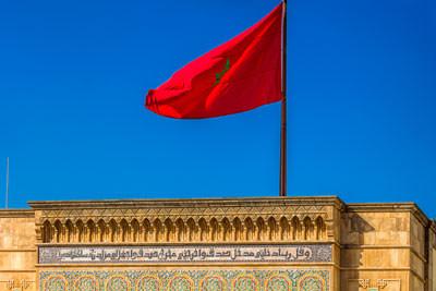 Thumbnail image ofFlag of Morocco at the Royal Palace.