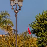 Street lamps, forecourt of the Royal Palace.