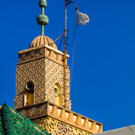 Minaret of the Royal Palace Ahl Fes mosque.