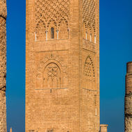 Hassan Tower, unfinished minaret of unfinished mosque.