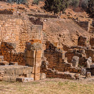 Ancient ruins of Chellah.