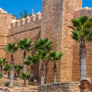 Kasbah outer wall.