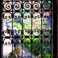 Gardens through the grill.