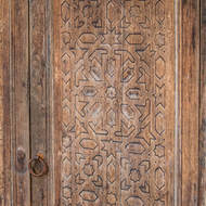 Decorated door.