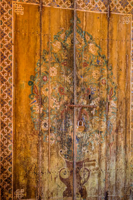 Thumbnail image of Decorated door.